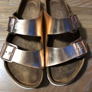 Birkenstock rose gold Sandals